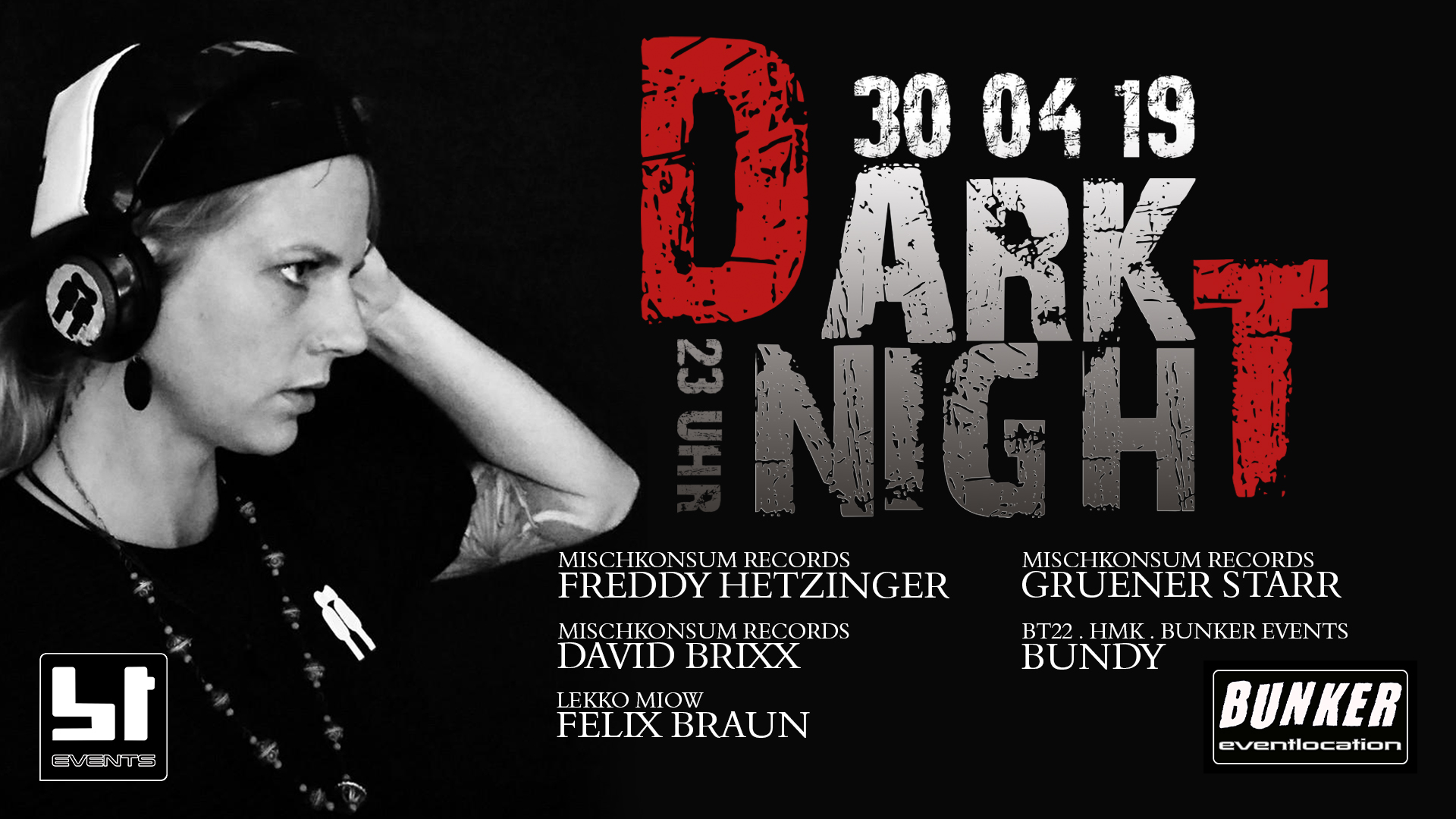 DARK NIGHT w/FREDDY HETZINGER /GRUENER STARR /uvm